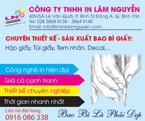Công Ty TNHH In Lâm Nguyễn-Bao Bì