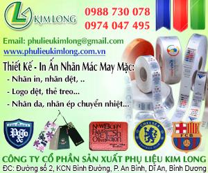 Công Ty TNHH Sản Xuất Phụ Liệu May Mặc Kim Long