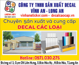 Công ty TNHH SX Decal Vĩnh An – Long An